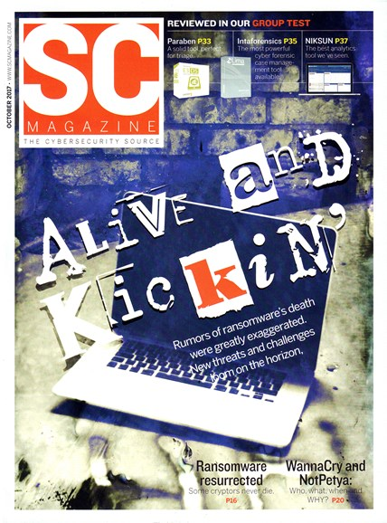 SC Magazine - U.S. edition Cover - 10/1/2017