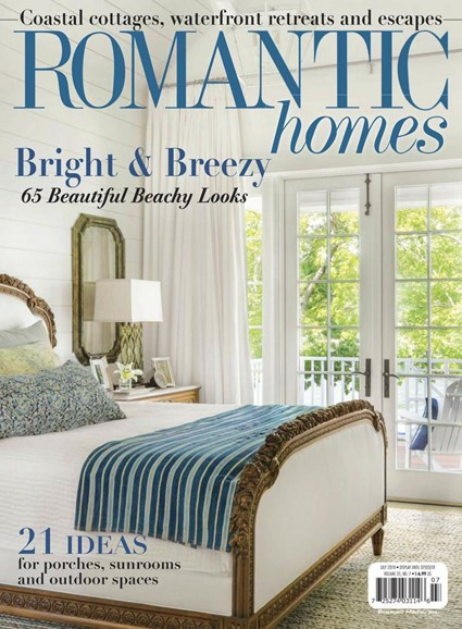 Romantic Homes Cover - 7/1/2018
