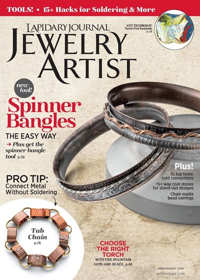 Lapidary Journal Jewelry Artist Cover - 7/1/2018