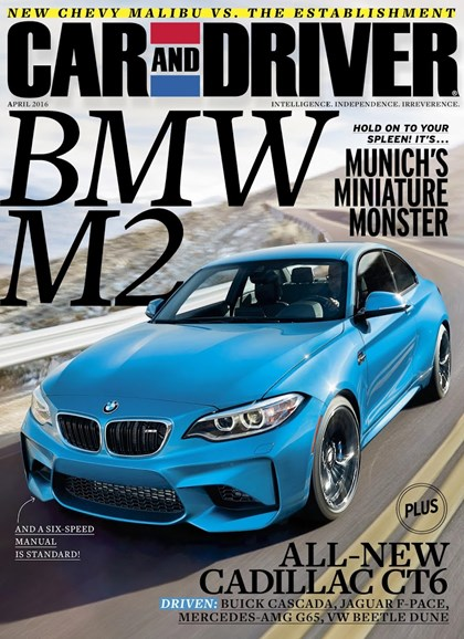 Car And Driver Cover - 4/1/2016