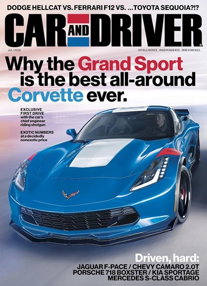Car And Driver Cover - 7/1/2016