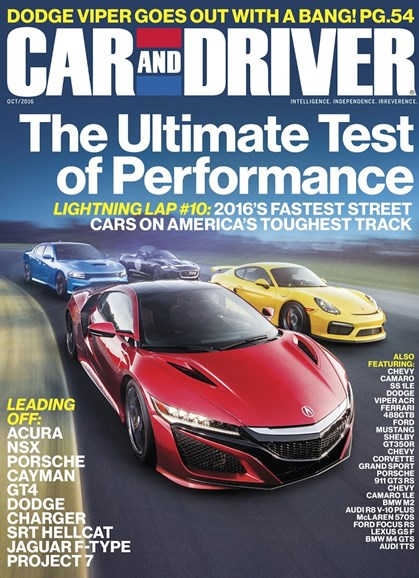 Car And Driver Cover - 10/1/2016