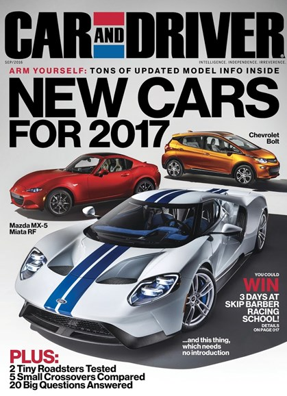 Car And Driver Cover - 9/1/2016