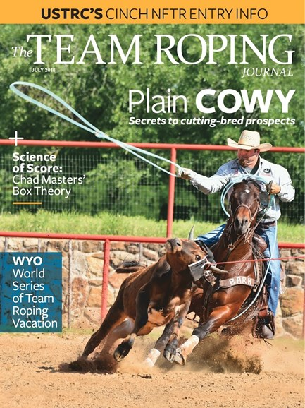 The Team Roping Journal Cover - 7/1/2018