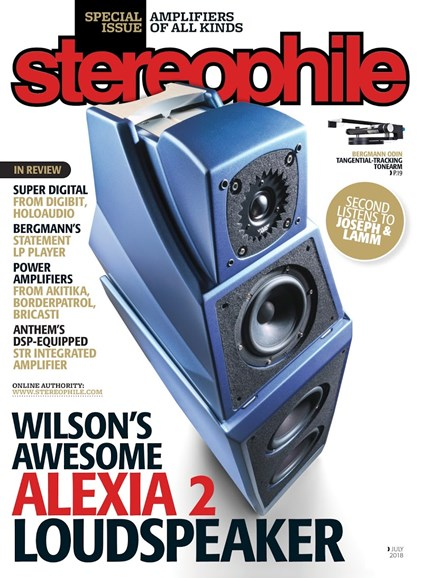 Stereophile Cover - 7/1/2018