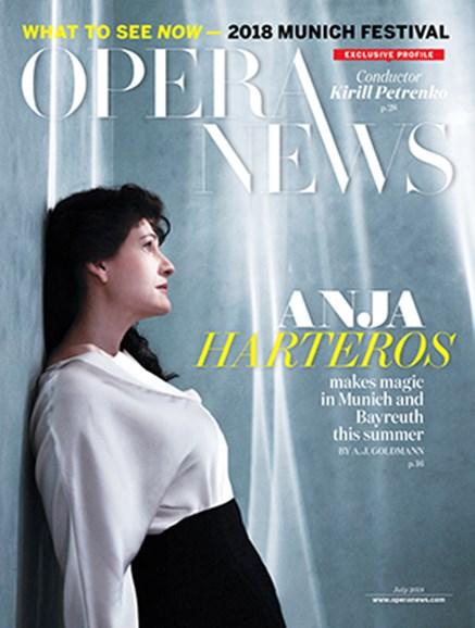 Opera News Cover - 7/1/2018