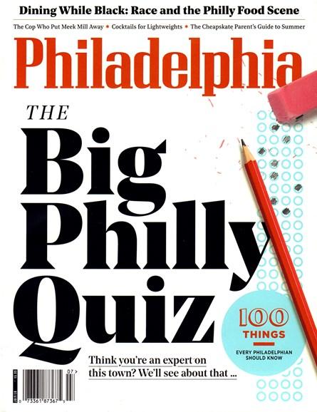 Philadelphia Magazine Cover - 7/1/2018