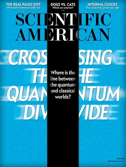 Scientific American Cover - 7/1/2018