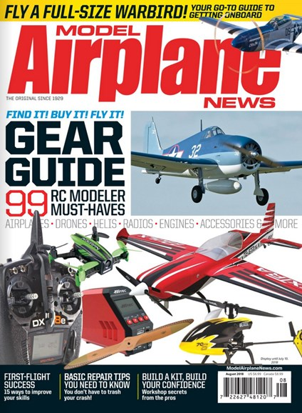 Model Airplane News Cover - 8/1/2018
