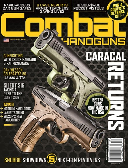 Combat Handguns Cover - 9/1/2018