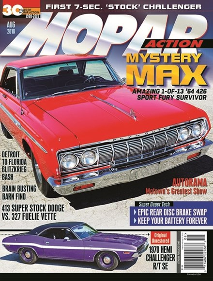 Mopar Action Cover - 8/1/2018