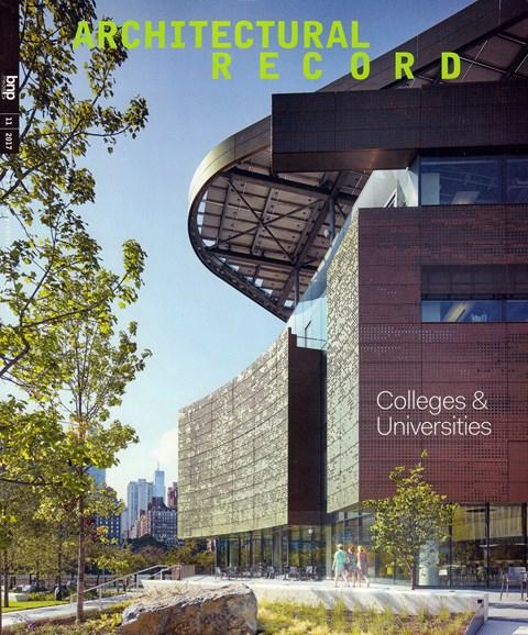 Architectural Record Cover - 11/1/2017