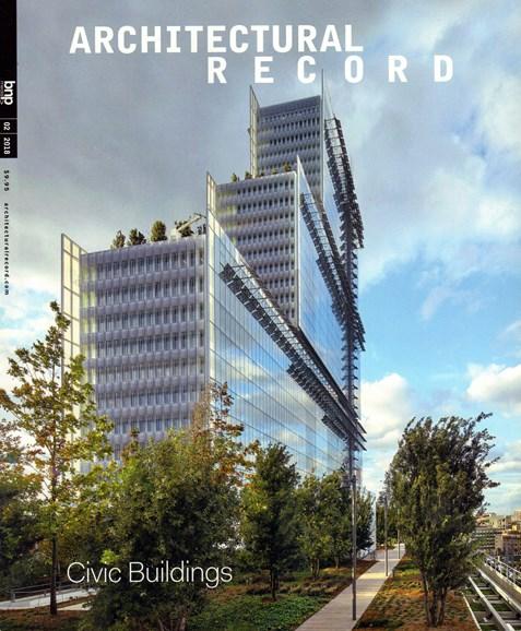 Architectural Record Cover - 2/1/2018