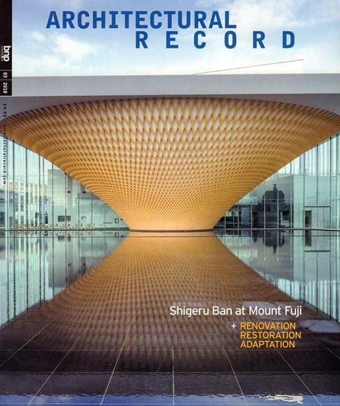 Architectural Record Cover - 3/1/2018