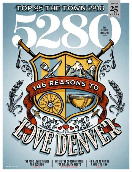 5280 Magazine Cover - 7/1/2018