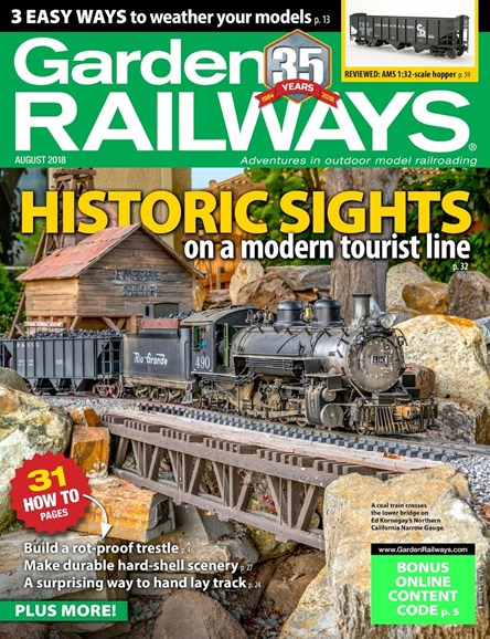 Garden Railways Cover - 8/1/2018
