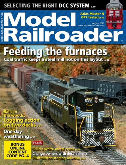 Model Railroader Cover - 8/1/2018