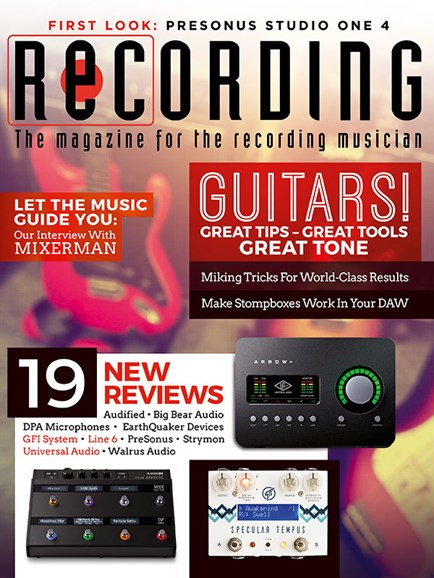 Recording Magazine Cover - 7/1/2018