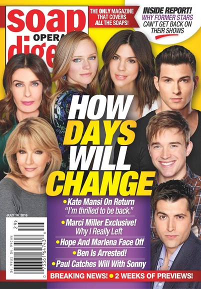 Soap Opera Digest Cover - 7/16/2018
