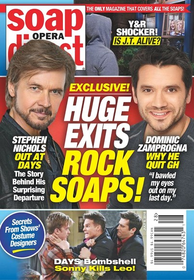 Soap Opera Digest Cover - 7/9/2018