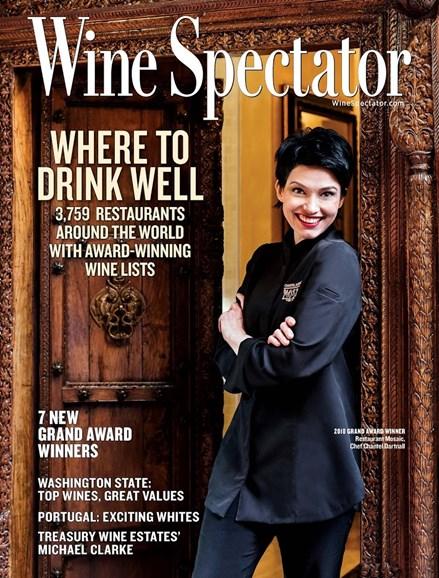 Wine Spectator Cover - 8/31/2018