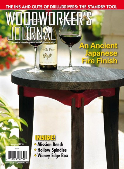 Woodworker's Journal Cover - 8/1/2018