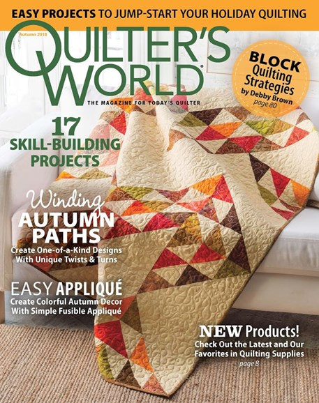 Quilter's World Cover - 9/1/2018