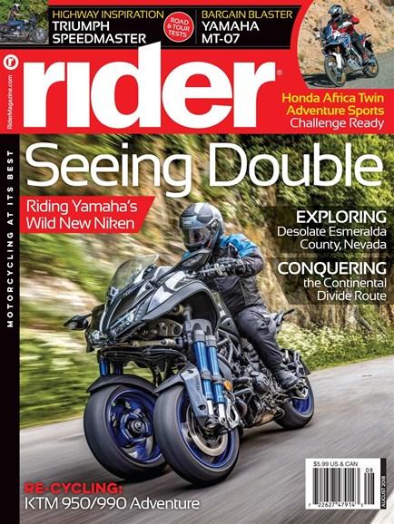 Rider Cover - 8/1/2018