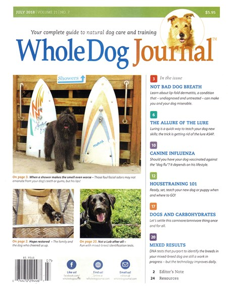 Whole Dog Journal Cover - 7/1/2018