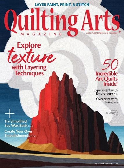 Quilting Arts Cover - 8/1/2018