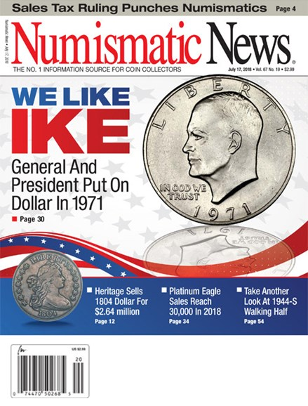 Numismatic News Cover - 7/17/2018