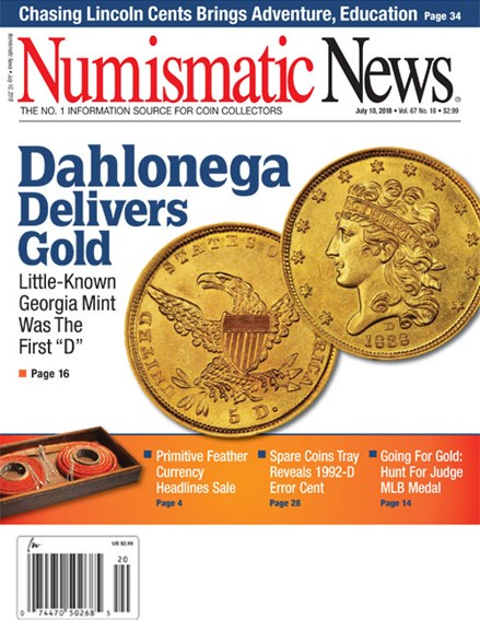 Numismatic News Cover - 7/10/2018