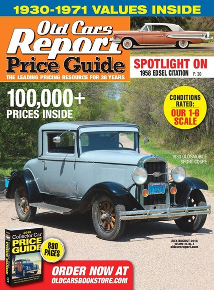 Old Cars Report Price Guide Cover - 7/1/2018