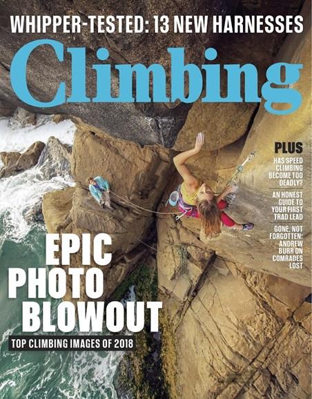 Climbing Magazine Cover - 8/1/2018