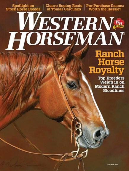 Western Horseman Cover - 10/1/2016