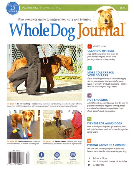 Whole Dog Journal Cover - 12/1/2017