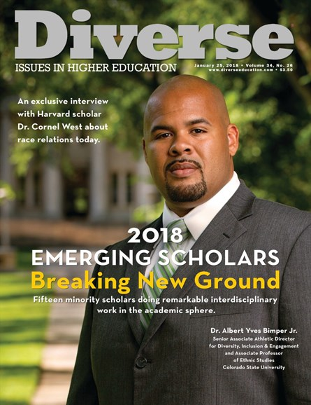 Diverse: Issues In Higher Education Cover - 1/25/2018