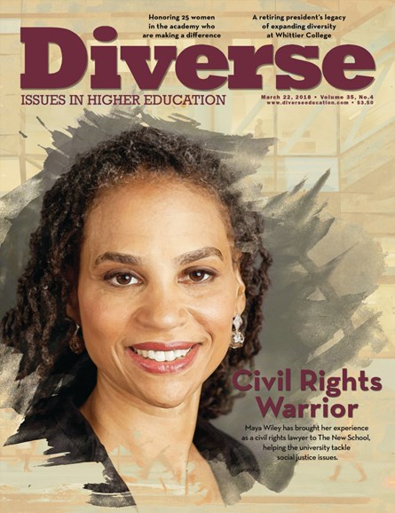Diverse: Issues In Higher Education Cover - 3/22/2018