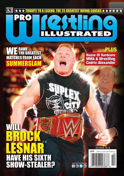 Pro Wrestling Illustrated Cover - 10/1/2018