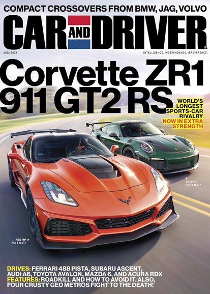 Car And Driver Cover - 8/1/2018