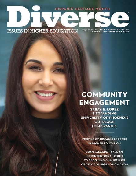 Diverse: Issues In Higher Education Cover - 9/21/2017