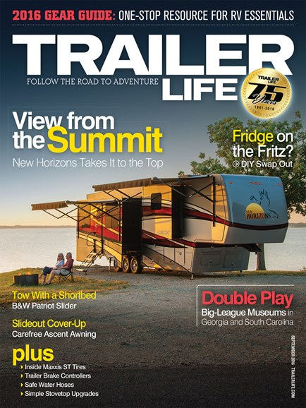 Trailer Life Cover - 9/1/2016