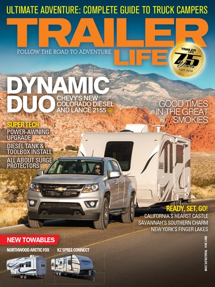Trailer Life Cover - 5/1/2016