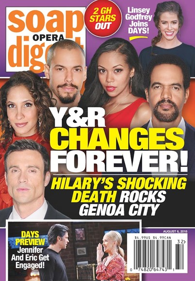 Soap Opera Digest Cover - 8/6/2018