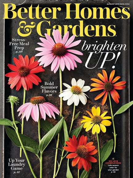 Better Homes & Gardens Cover - 8/1/2018