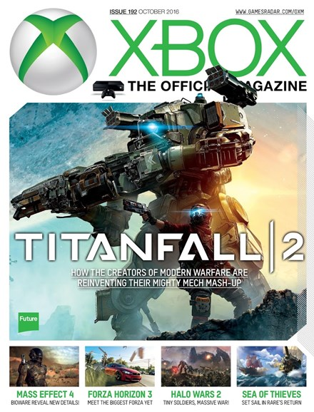 Official Xbox Magazine Cover - 10/1/2016