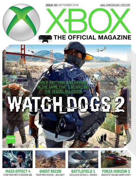 Official Xbox Magazine Cover - 9/1/2016