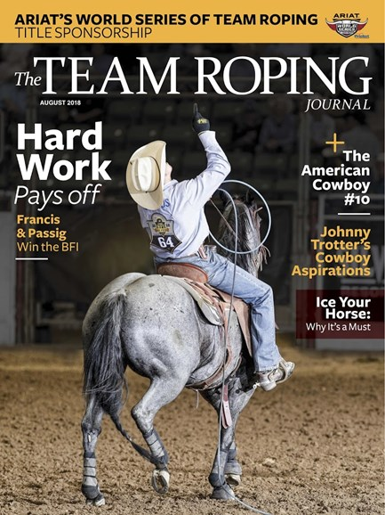 The Team Roping Journal Cover - 8/1/2018