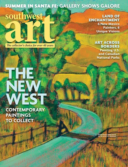 Southwest Art Cover - 8/1/2018
