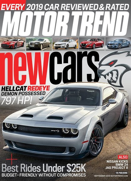 Motor Trend Cover - 9/1/2018